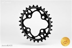 Image of absoluteBLACK 64BCD Spider Mount Oval Chainring N/W