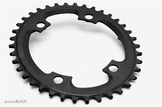 Image of absoluteBLACK CX 110BCD 4 Bolt Asymmetric Spider Mount Oval Cyclocross Chainring