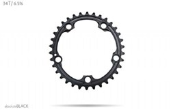 Image of absoluteBLACK SRAM 110BCD 5 Bolt Spider Mount Oval Ring (Premium)